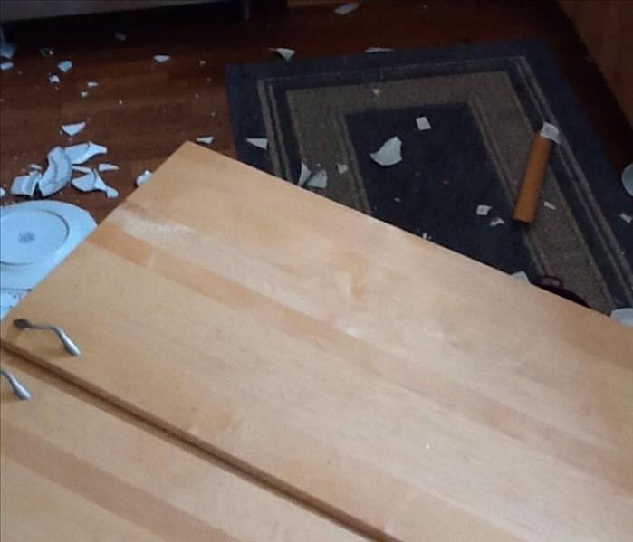 Fallen Cabinet Makes a Mess in Lincoln, RI  Before