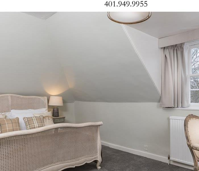 Image of clean white bedroom